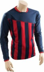 Precision voetbalshirt Precision jr polyester blauw/rood maat M