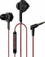 UiiSii T6 in-ear oortjes - 120cm met microfoon en controller - Dual Dynamic Hi-Res Oordopjes - Rood