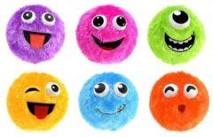 Paarse Toi Toys BV Fuzzy Opblaasbare Gezichtbal