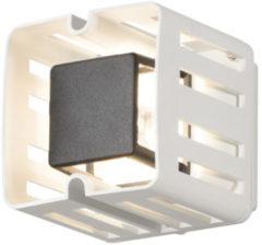 Konstsmide Buitenlamp 'Pescara Cube' Wandlamp, PowerLED 1 x 3W / 230V, kleur Wit