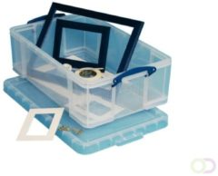 Really Useful Boxes transparante opbergdoos 50 l, buitenft 710 x 440 x 230 mm, binnenft 605 x 370 x 20...