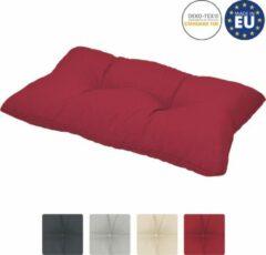 Beautissu loungekussen XLuna – rugkussen rood 60x40 cm kussen in matraskussen kwaliteit