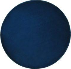Blauwe Beliani Gesi Ii Vloerkleed Viscose 140 X 140 Cm