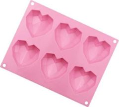 Roze Akyol Siliconen mal harten - Chocolade - Diamanten - 3D - Bakvorm - Bonbons - Mold - Bakvormen - Koken - Chefkok - Bakken - Keukenaccessoires - Cadeau - Gift