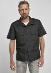 Zwarte Brandit Blouse - Shirt - Ripstop - Shortsleeve - Urban - Casual - Streetwear Overhemd - Shirt Heren Overhemd Maat M