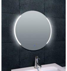 Transparante Saqu Trend Ronde Spiegel met LED verlichting en verwarming Ø 60 cm