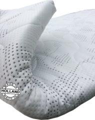 Witte Slaaploods.nl Slaaploods Splittopper Koudschuim Deluxe- Oplegmatras - 180x200 cm - Wit