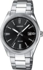 Casio Quartz Horloge MTP-1302PD-1A1VEF (l x b x h) 44.2 x 38.5 x 9.2 mm Zilver Materiaal (behuizing): Messing Materiaal (armband): RVS