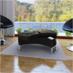 Zwarte VidaXL Salontafel multifunctioneel design zwart