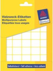 Avery Zweckform 3318 mini etiketten ft 22 x 18 mm (b x h), 1.200 etiketten, wit