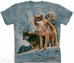 The Mountain T-shirt Wolf Couple Sunset Unisex T-shirt Maat 3XL