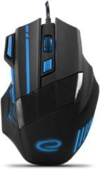 Esperanza Optische USB Game Muis 7D Wolf met LED - max DPI 2400 - Blauw