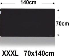 Muismat Gaming XXL 140x70cm bureau onderlegger XXXL | Gaming Muismat | Mousepad | Pro Muismat XXL 1400x700 | Anti-slip | Desktop Mat | Computer Mat | Zwarte uitvoering, zwart , merk Beactiff