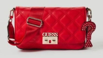 Rosso Guess Tracolla Status Charm