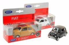 Speelgoed modelauto rode Fiat 500 classic auto 1:36