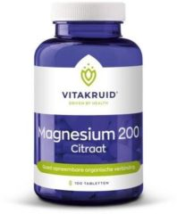 Vitakruid Magnesium 200 Citraat (100tb)