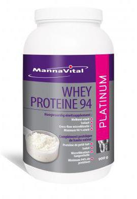 Afbeelding van Mannavital Whey proteine platinum 900 Gram