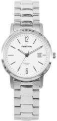 Prisma Dames Slimline Classic White horloge P.1474