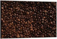 Bruine KuijsFotoprint Dibond –Gebrande Koffiebonen– 90x60cm Foto op Aluminium (Met Ophangsysteem)