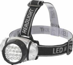 Quano LED Hoofdlamp - Igory Heady - Waterdicht - 35 Meter - Kantelbaar - 18 LED's - 1.1W - Zilver | Vervangt 9W