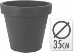 Grijze Merkloos / Sans marque Zwarte bloempot 35 cm - Zwarte plantenpot 35 cm