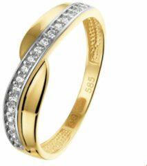 Zilveren The Jewelry Collection Ring Zirkonia - Goud