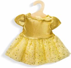 Heless poppenkleding jurk goud 28-35 cm