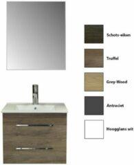 Badkamermeubelset Sanicare Q6 Twee Laden Chromen Greep 60 cm (alle kleuren, spiegel optioneel)