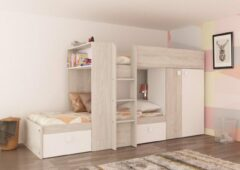 Baby & Tiener Collection Stapelbed Maxim - Wit