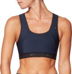 Donkerblauwe CW-X XTRA Support sportbeha donker blauw voor hardlopen en fitness maat 75E