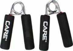 Zwarte Care Fitness - handknijpers met handgrepen van schuim - set van 2 - Grip trainer