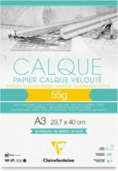Transparante Clairefontaine Calque 55g Overtrekpapier – A3