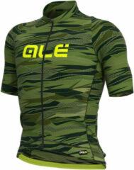 Alé - Rock Jersey Graphics - Fietsshirt maat L, olijfgroen/zwart