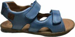 Blauwe naturino velcro sandalen sky jeans