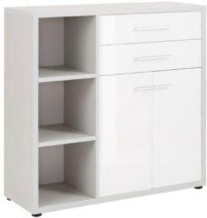 Bermeo Commode Banco 110 cm hoog - Platina grijs met wit