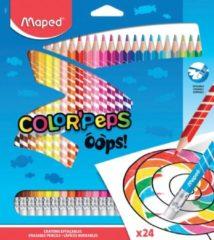 Maped COLOR'PEPS OOPS kleurpotloden - uitgumbaar - in kartonnen doos x24