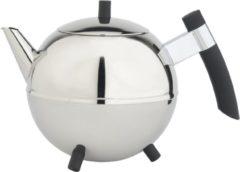 Bredemeijer theepot Meteor 1.2l rvs / zwart beslag 4304Z