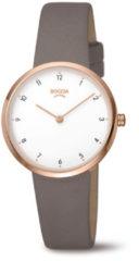 Boccia Titanium 3315.03 horloge Leer Gri Dames