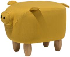 Beliani Piggy Hocker Polyester 32 X 50 Cm