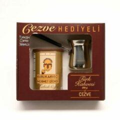 Kurukahveci Mehmet Efendi Turkse koffie (250 gram) inclusief Turkse koffiekan (cezve)
