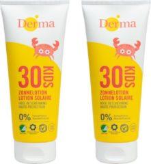 Derma Sun Derma Eco Sun Kids zonnebrandlotion SPF 30 - 2 x 200 ml - eco - voordeelverpakking