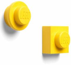 Gele LEGO Iconic Magneten - Set van 2 Stuks - �7 cm