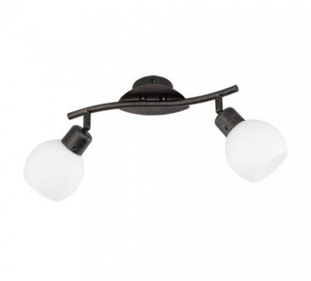 Afbeelding van Trio Serie 8248 Spotlamp 2x4W 3000K Antiek Roest Wit LED 824810228