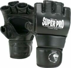 Super Pro Combat Gear Brawler MMA Handschoenen Zwart/Wit Extra Extra Small