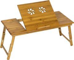 Songmics Houten laptoptafel laptop table voor op bed - Hout - Bruin - 72 x (21-29) x 35 cm