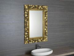 Sapho Scule barok spiegel met gouden omlijsting 80x120cm