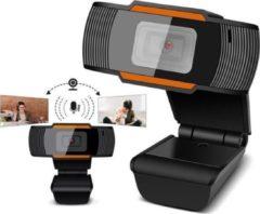 Zwarte Indena Webcam WB03 Autofocus Webcamera HD Cam met microfoon voor pc Laptop Desktop Computer