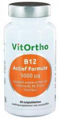 VitOrtho B12 Actief Formule 5000mcg Zuigtabletten 60st
