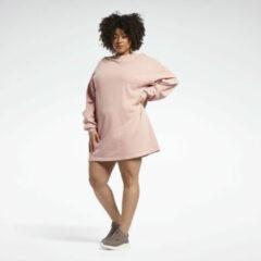 Donkerrode Reebok Classics Natural Dye Sweatshirt Jurk (Plus Size)