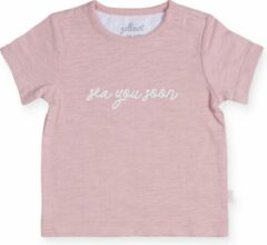 Roze Jollein Meisjes Shirt - Octopus pink - Maat 74/80